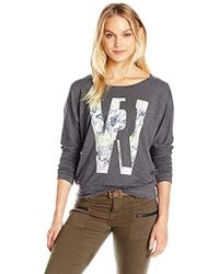 William Rast - Veruca Williamrast Flwr Sweatshirt - Lyst