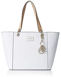 996dc25e19bf Lyst - Guess Ines Top Handle Crossbody Bag in Pink