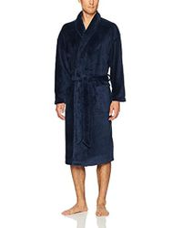 TOMMY HILFIGER ROBE WITH H LOGO AND STRIPE SHAWL COLLAR IN