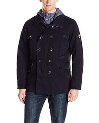 Ben Sherman - Cotton Canvas Peacoat - Lyst