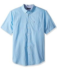 Tommy Hilfiger - Big And Tall Button Down Short Sleeve Shirt Maxwell - Lyst