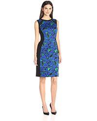 Kasper - Floral Printed Scuba Dress - Lyst