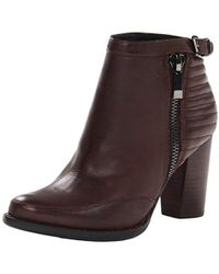 French Connection - Odea Side Zip Ankle Boot, Chocolate, 38.5 M Eu/8.5 M Us - Lyst