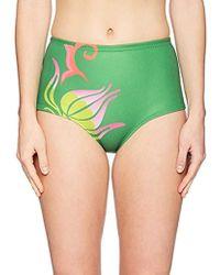 Cynthia Rowley - High Waist Fiji Bikini Bottom Swimsuit - Lyst