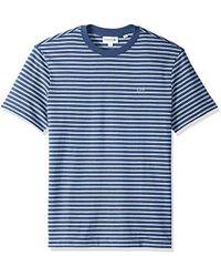 Lacoste - Short Sleeve Reg Fit Striped Jersey Tee - Lyst