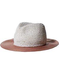 BCBGeneration - Colorblock Crochet Panama, White One Size - Lyst