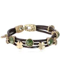 Lucky Brand - S Stone Woven Bracelet - Lyst
