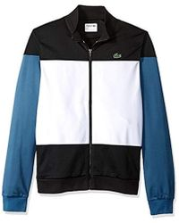 56cc4633151b17 Lyst - Lacoste Andy Roddick Color Blocked Track Jacket in White for Men