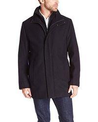 Calvin Klein - Car Coat With Front-zip Bib - Lyst