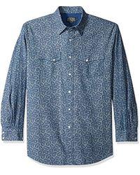 b8b3f85b Woolrich Keystone Printed Chaomis Shirt in Blue for Men - Lyst