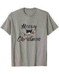 524723dce0 Caterpillar - Meowy Christmas T-shirt Tuxedo Cat Christmas Catmas Meows -  Lyst