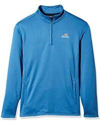 Skechers - Go Walk Momentum 1/4 Zip Mock Neck Twill Back Fleece Jacket - Lyst