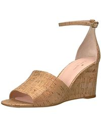 1062ad175334 Lyst - Kate Spade Carmelita Striped Canvas Bow Espadrille Wedges in ...
