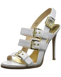 60da1ea98ba Nine West - Howrude Leather Heeled Sandal - Lyst