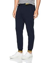 Armani Jeans - Plus Size Cotton Fleece Jogger With Contrast Stripe Detail - Lyst