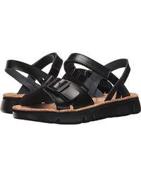9bbeca82fea7 Lyst - Camper Oruga 2 Flat Leather Sandal in Black