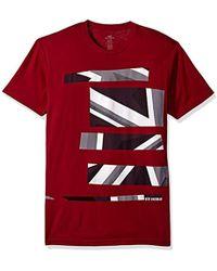 Ben Sherman Mens Union Jack Stripe Print Tee