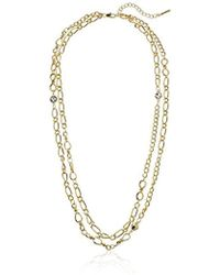 T Tahari - Double Strand Chain Necklace - Lyst
