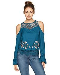 3be800d2e437a Jessica Simpson - Dara Cropped Cold Shoulder Top - Lyst