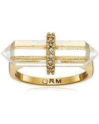 Rebecca Minkoff - Raw Crystal Ring, Size 7 - Lyst