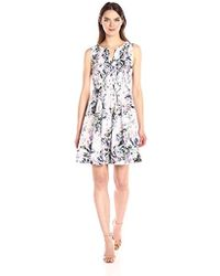 NYDJ - Lana Cotton Voile Dress - Lyst