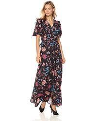 Ella Moon - Quinn Ruffle Flutter Sleeve Maxi Dress - Lyst