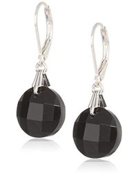 Napier - Jet Circle Leverback Drop Earrings - Lyst