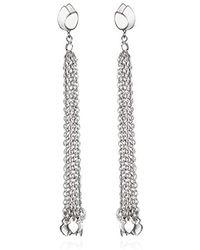 Satya Jewelry - Sterling Silver Lotus Petal Chain Tassel Drop Earrings - Lyst