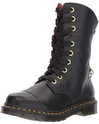 Dr. Martens - Aimilita Black Aunt Sally Leather Fashion Boot - Lyst