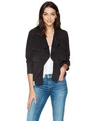 Splendid - Drape Front Jacket - Lyst