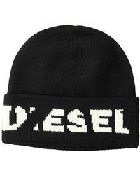 2b93aaa05f8d3 Lyst - DIESEL K Coder Beanie Hat Black in Black for Men