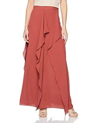 9f23f7dd9b Alice + Olivia Double-slit Maxi Skirt in Natural - Lyst