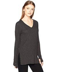 Michael Stars - Long Jasper Poorboy V-neck Sleeve Tunic With Slits - Lyst