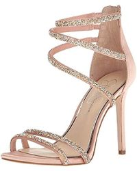 bca88e4bfb3 Lyst - Jessica Simpson Jamalee Ankle Strap Stiletto in Natural