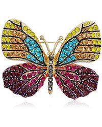 Napier - Multi-tone Butterfly Brooch Pin - Lyst