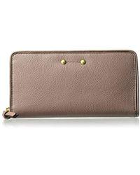 Cole Haan - Jade Leather Continental Zip Around Wallet - Lyst