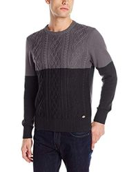Dickies - Connor Color-block Fisherman Cable-knit Sweater - Lyst