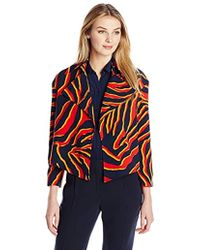 Anne Klein - Danica Printed Jacket - Lyst