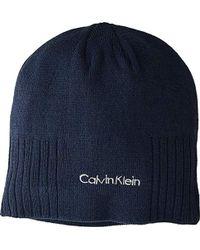 Lyst - Calvin Klein Knit Beanie in Red for Men defc7104ff3