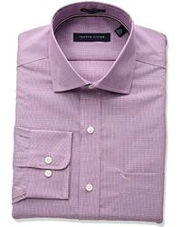 Tommy Hilfiger - Non Iron Regular Fit Micro Check Spread Collar Dress Shirt - Lyst