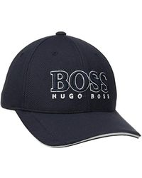 d73f75dded0f81 BOSS Piqué-mesh Baseball Cap With Embroidered Stripe in Black for Men - Lyst