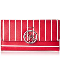 Guess - Kamryn Red Strip Multi Clutch Wallet - Lyst eb5cb5f924c22