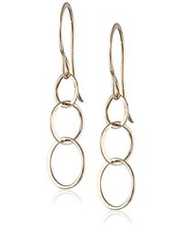 "Melissa Joy Manning - ""mjm Classic"" 14 Gold Hand Made Chain Earrings - Lyst"