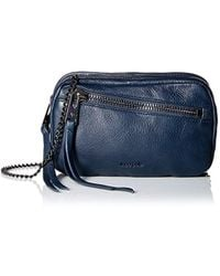 Linea Pelle - Wyatt Triple Zip Cross-body, Navy - Lyst