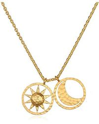 ca11e56ff1c55 One and One Studio Crystal Star Charm Pendant In Gold On 14 Inch ...