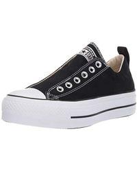 5085657dfa6ae8 Lyst - Converse Chuck Taylor(r) All Star Canvas 3v Ox (black black ...