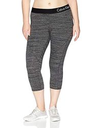 476c633aaa5168 Calvin Klein Plus Size Modern Essential Power Stretch Legging With  Waistband in Black - Lyst