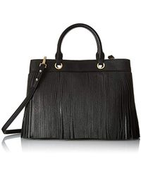 MILLY - Essex Fringe Tote Convertible Top-handle Bag - Lyst