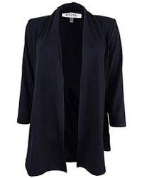 Kasper - 3/4 Sleeve Cardigan With Back Waist Detail - Lyst