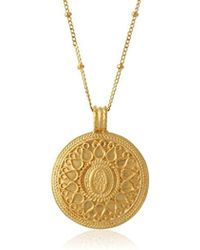 Satya Jewelry - Gold Hamsa Mandala Pendant Necklace (24-inch) - Lyst